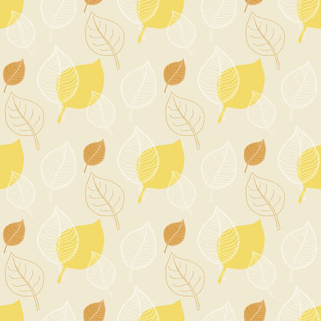 fall leaves: Seamless Autumn pattern:abstract yellow leaf,leaf fall,defoliation,autumn leaves ,falling leaves Illustration