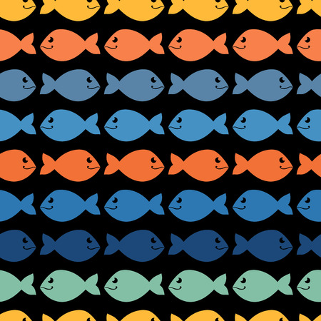 Color  abstract fish pattern.Background.Wallpaper Vector