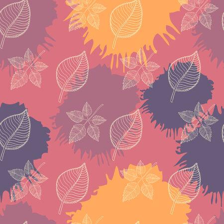 hojas de oto�o cayendo: Oto�o patr�n transparente: hoja resumen, la ca�da de hojas, defoliaci�n, hojas de oto�o, las hojas que caen Vectores