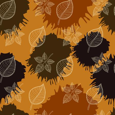 hojas de oto�o cayendo: Oto�o patr�n transparente: extracto de la hoja, ca�da de hojas, defoliaci�n, hojas de oto�o, las hojas que caen Vectores
