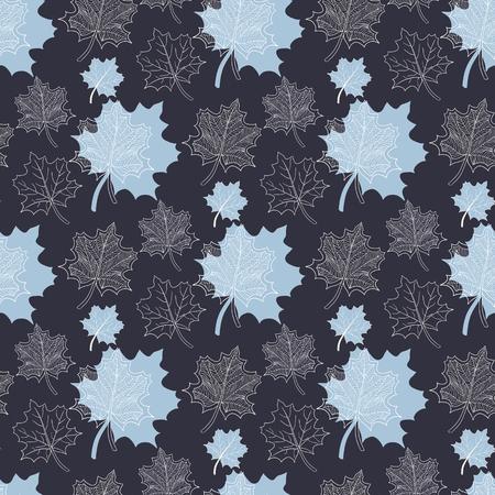 hojas de oto�o cayendo: Patr�n de oto�o transparente: Extracto azul de la hoja, ca�da de las hojas, defoliaci�n, hojas de oto�o, las hojas que caen Vectores
