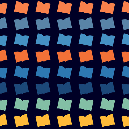 yearbook: Seamless abstract pattern with  color books Illustration