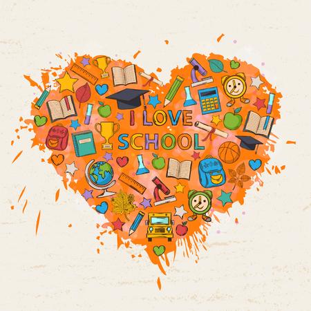 Risultati immagini per disegno io amo la scuola