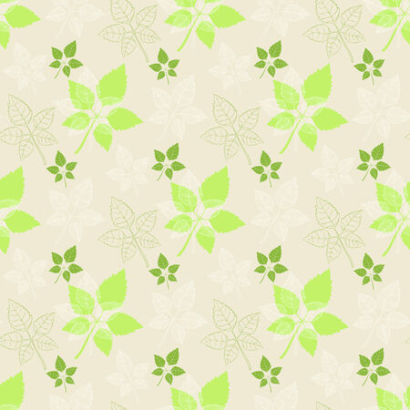 defoliation: Seamless spring pattern .Green leaf:abstract leaf,leaf fall,defoliation,au tumn leaves ,falling leaves Illustration