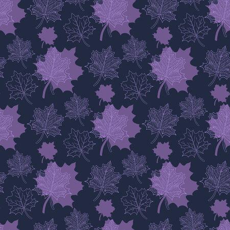 hojas de oto�o cayendo: Patr�n de oto�o transparente: extracto de la hoja p�rpura, ca�da de las hojas, defoliaci�n, hojas de oto�o, las hojas que caen Vectores