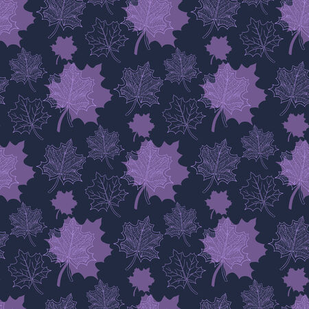 defoliation: Seamless Autumn pattern:abstract purple  leaf,leaf fall,defoliation,autumn leaves,falling leaves