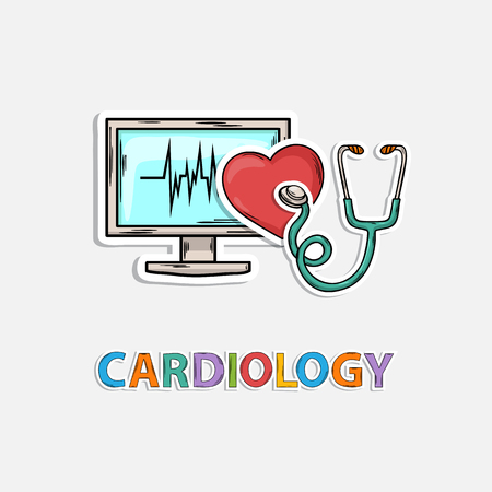 healt: Concept Icon for cardiology,m?dicine,healt life:heart pulse monitor stethoscope research diagnostics pressure