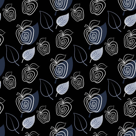 abstact: Background,pattern blue  abstact apple and leaf