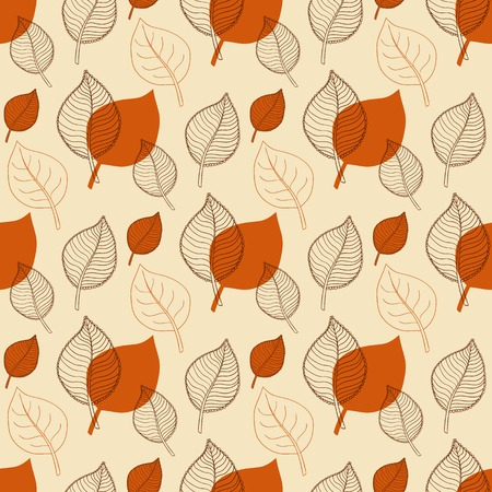 defoliation: Seamless Autumn pattern,abstract orange leaf,leaf fall,defoliation,autumn leaves ,falling leaves