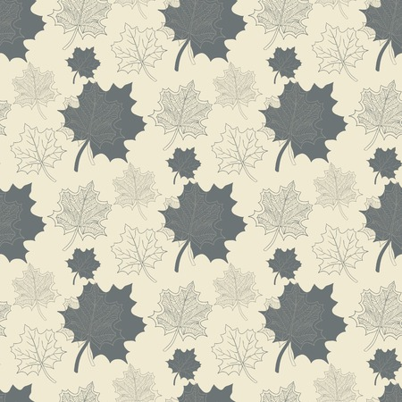 defoliation: Seamless pattern with grey leaf,abstract leaf,leaf fall,defoliation,autumn leaves ,falling leaves