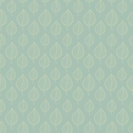 hojas de oto�o cayendo: Seamless patr�n de oto�o sobre un fondo verde, extracto de hoja marr�n, ca�da de las hojas, defoliaci�n, hojas de oto�o, las hojas que caen Vectores