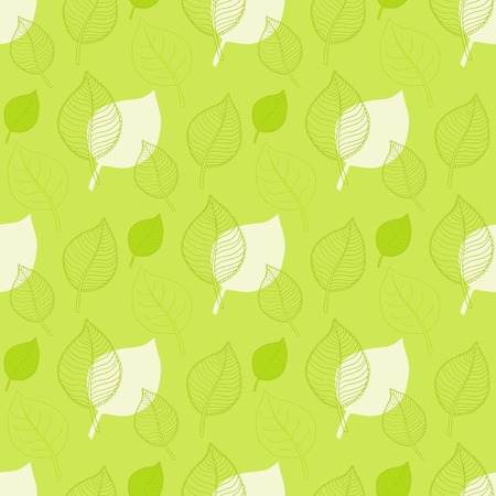 defoliation: Seamless Autumn pattern,abstract green leaf,leaf fall,defoliation,autumn leaves ,falling leaves Illustration