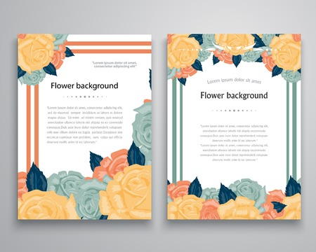 Vector Flower background. Easy to edit. Perfect for invitations or announcements. Vector