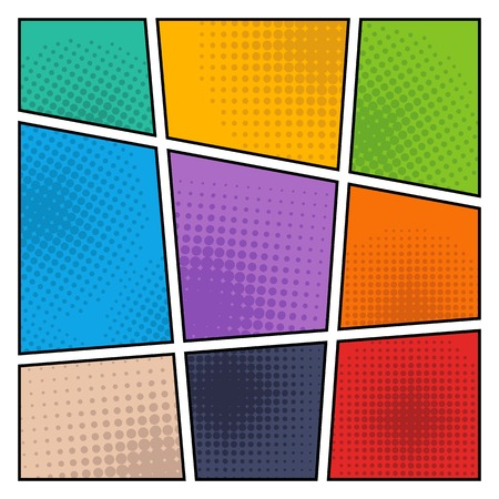 comic strip: Halftone Backgrounds. Color comic background, vector illustration