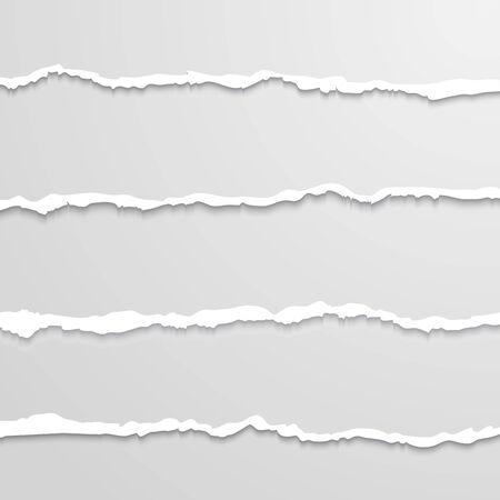 disrupt: Set of lacerated  elements for you design Illustration
