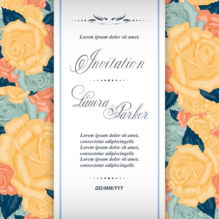 Save the date wedding invitation template vector Vector