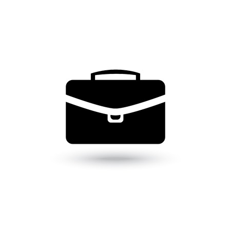 Vector briefcase black icon isolated on a white background Vector