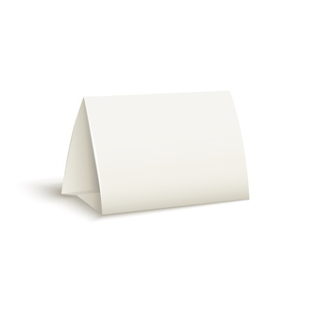 assign: Vector realistic,3d table paper card isolated on a white background