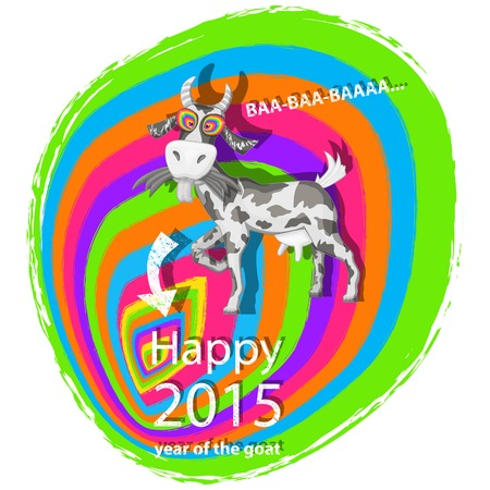 happy new year banner: Goat.Vector Happy new year 2015,Chinese astrological year of goat .Abstract background,banner poster