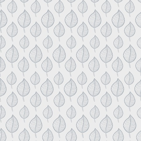 defoliation: Seamless Autumn pattern on a white background with abstract grey leaf,leaf fall,defoliation,au tumn leaves ,falling leaves Illustration