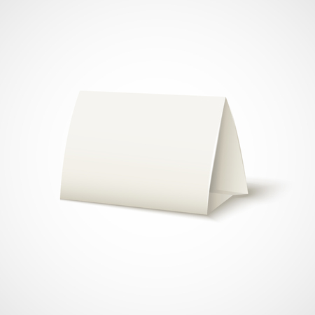 Vector realistic table paper card with shadow