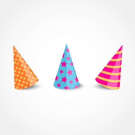 dressing up party: Vector party hat with shadow isolated on a white background