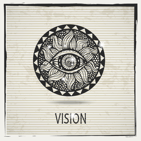 foresight: Vector abstract black vision sign  , doodle , icon