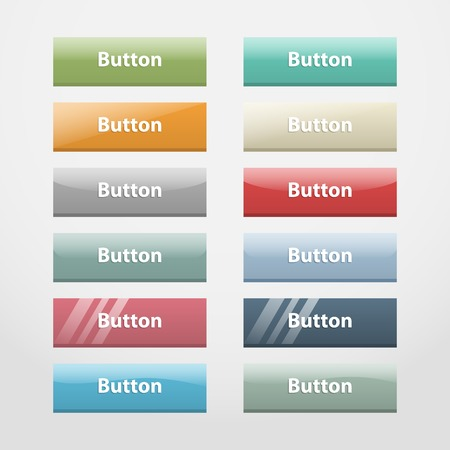 part i: Vector colorful realistic web buttons,over white. Part I