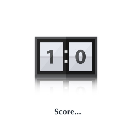 indicator board: Vector Score board sign,icon,pictogram isolated in a white background with text in flat style Illustration