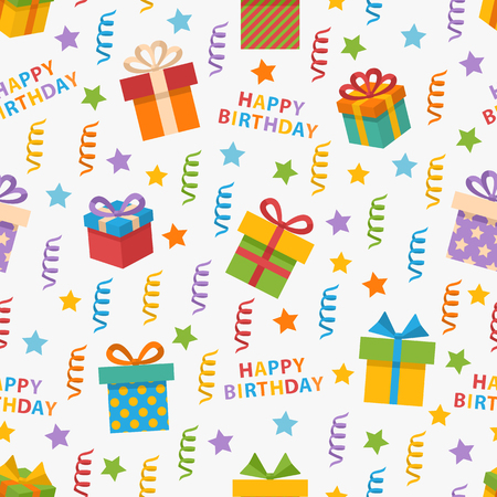 Vector seamless pattern on the topic Happy Birthday