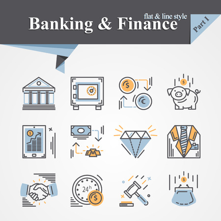 partnership security: Trendy flat and line Banking and Finance icon m-banking,savings,internet payment security,savings, partnership,online banking,online services,exchange,cash.For apps,developers,designers.