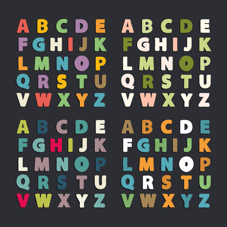 Vector abstract alphabet collection.Alphabet vector .Vector alphabet.Vector Alphabet isolated.Vector Alphabet flat style.Vector Color Alphabet.Vector font isolated on  background.Vector Type