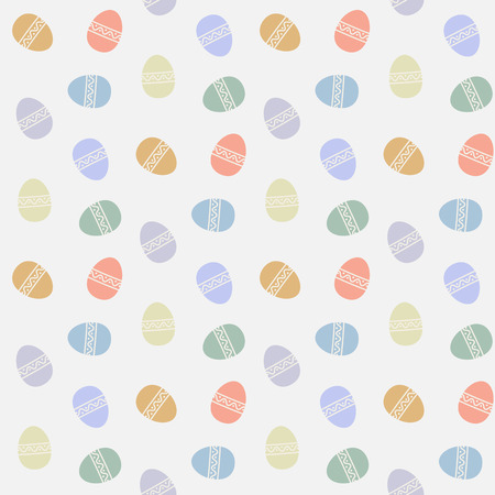 Easter eggs vector pattern flat style.Easter egg isolated vector seamless pattern on a white background.Easter egg pattern for holiday design.Easter egg pattern flat modern style