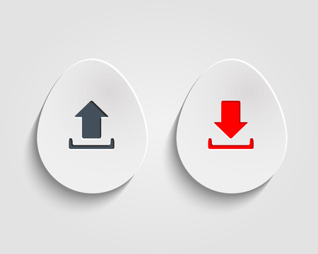vector download: Vector download and send the arrow marks on egg  buttons or circles