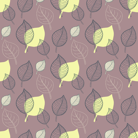 autumn leaves falling: Seamless Autumn pattern:abstract green leaf,leaf fall,defoliation,autumn leaves ,falling leaves Illustration