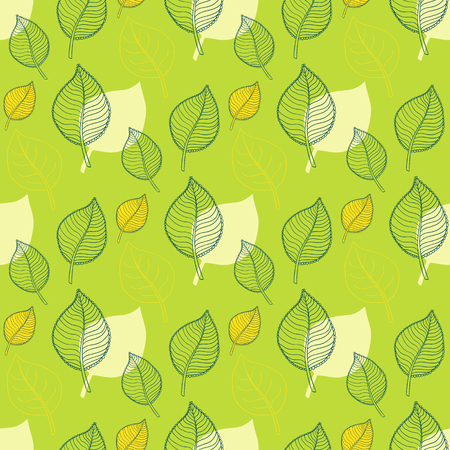 autumn leaves falling: Leaf pattern.Seamless Leaf pattern.Abstract green leaf,leaf fall,defoliation,autumn leaves ,falling leaves.Spring leaf pattern.Leaf vector