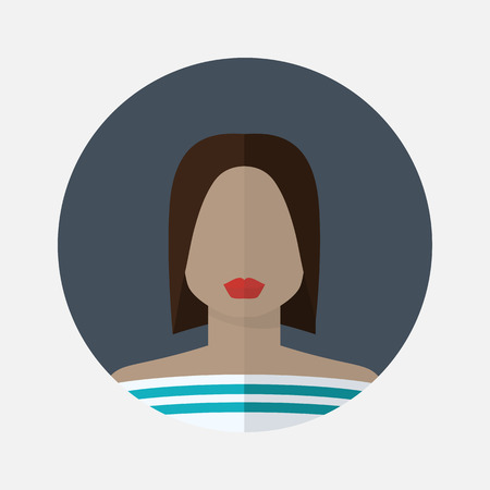 color consultant: Vector female avatar icon in flat style african nationality.Vector woman african nationality.Women user avatar .Female vector icon.African type of appearance