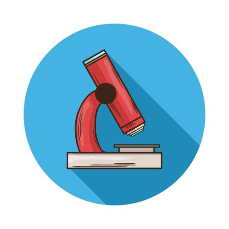 optical instrument: Microscope icon.Vector Microscope icon isolated with shadow.Hand draw Microscope vector.Medical device Microscope an optical instrument used for viewing very small objects Illustration