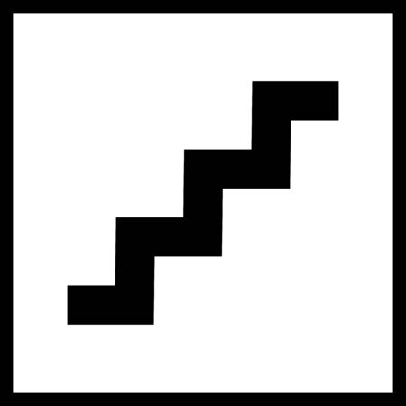high way: Stairs icon.Vector staircase sign isolated on a white background.