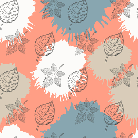 autumn leaves falling: Autumn seamless pattern abstract leaf,leaf fall,defoliation,autumn leaves ,falling leaves