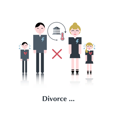 unhappy family: Family in divorce.