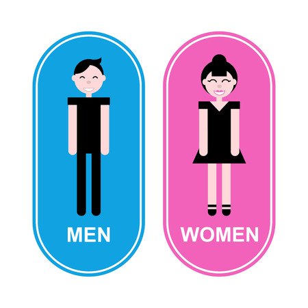 loo: A man and a lady toilet sign vector illustration