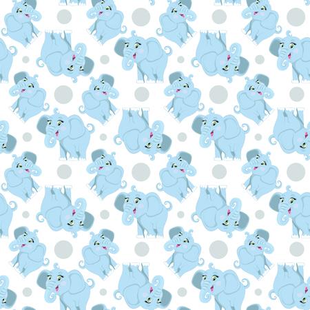 Elephant pattern. Illustration
