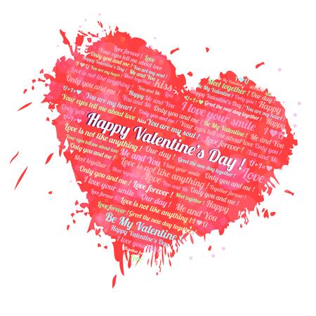 Valentin heart with text Illustration