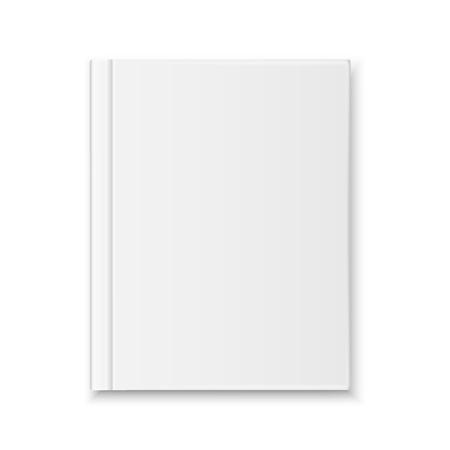 Vue de dessus de couverture de livre blanc réaliste de vecteur isolé Vecteurs