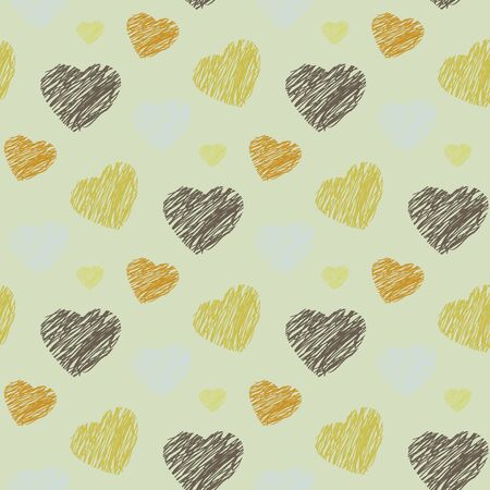 Vector seamless pattern with hearts 向量圖像