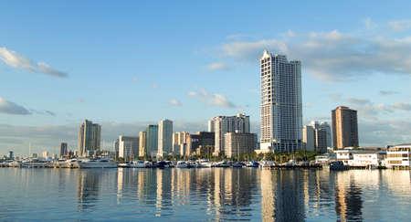 La imagen de la Bahía de Manila, Filipinas Foto de archivo - 86132756