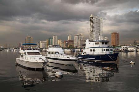 Ships in Manila Bay pier