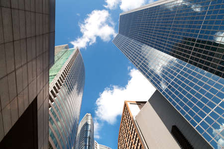 Skyscrapers in Makati, Manila bottom view