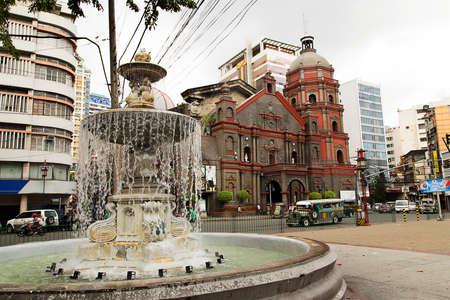 Binondo Catholic Church in Manila Chinatown Editorial